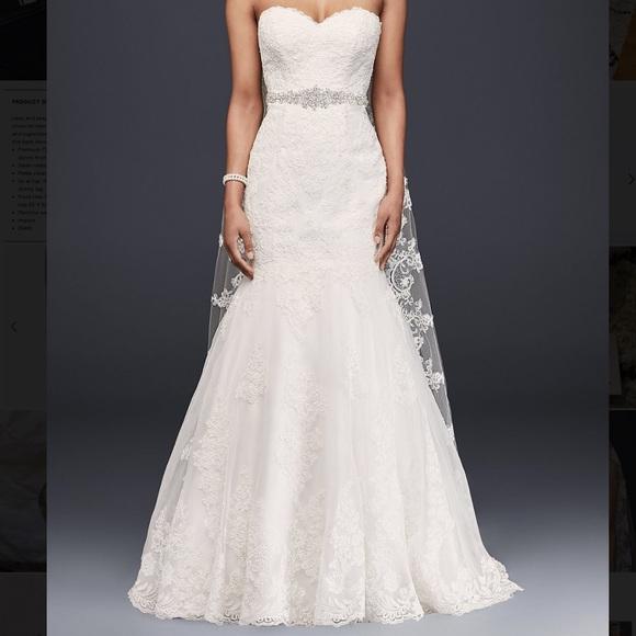 fe4eb27c61037 David's Bridal Dresses   Davids Bridal Strapless Sweetheart Trumpet ...